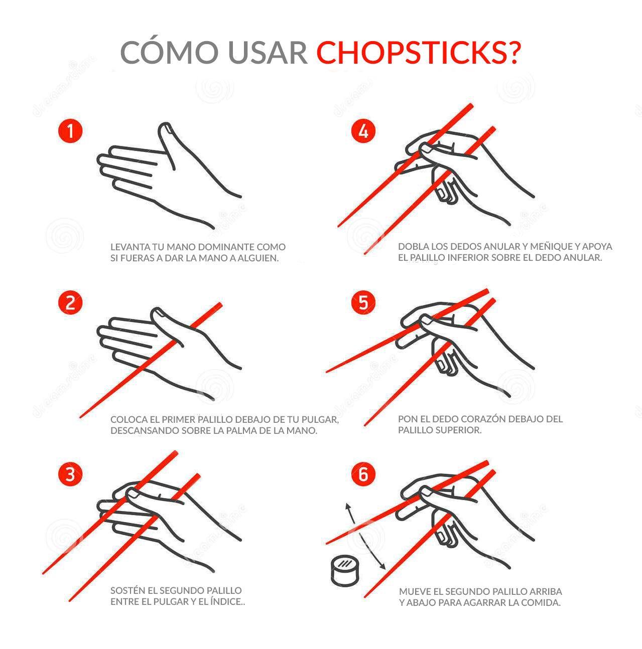 A como sushi aprender con palillos comer