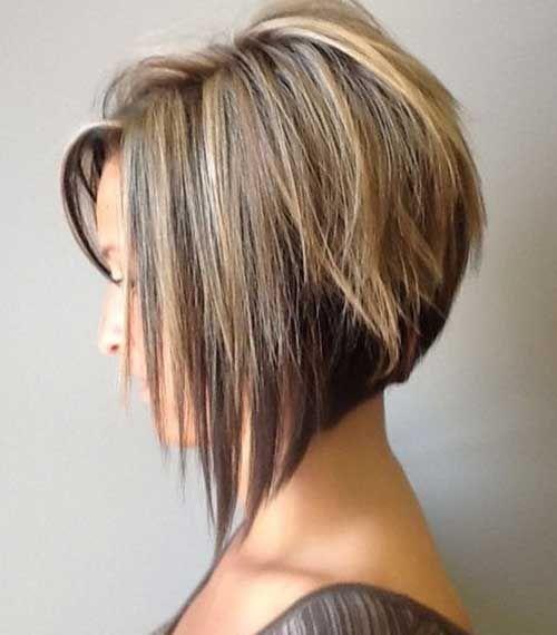 Volumenska obrnuta bob frizura