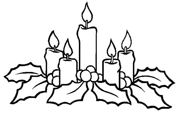christmas candle coloring page christmas candle shine to our heart coloring pages download print