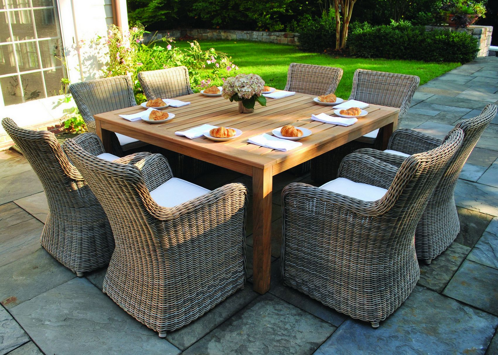 Kingsley Bate Wainscott Collection Dining Table Teak Furniture