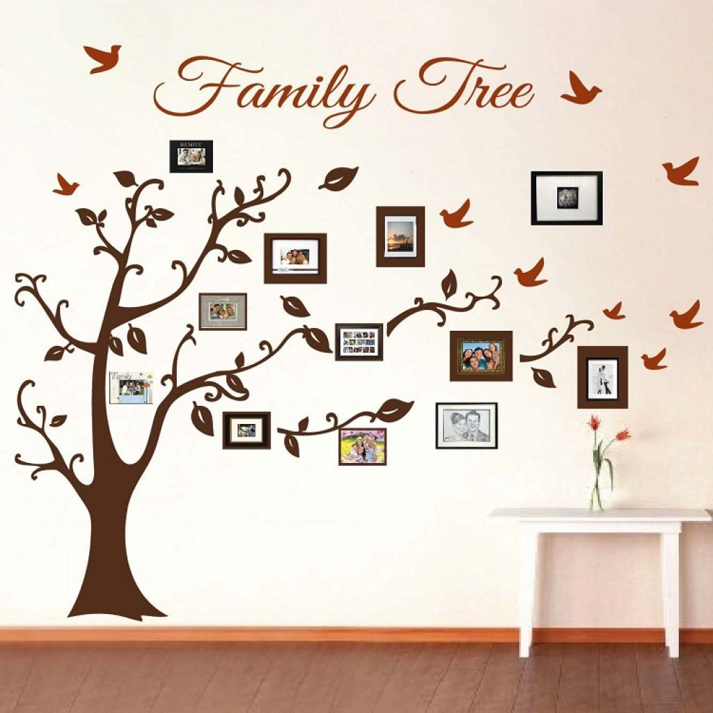 Family Tree Picture Frame Wall Art With Detailed Branches For The Vintage Touch And Des Arte De Pared De Arbol Collage De Fotos En La Pared Decoracion De Pared