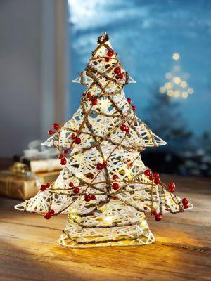 Weihnachtsdeko Bei Weltbild.Led Deko Tannenbaum 40 Cm Weihnachten Advent Baum