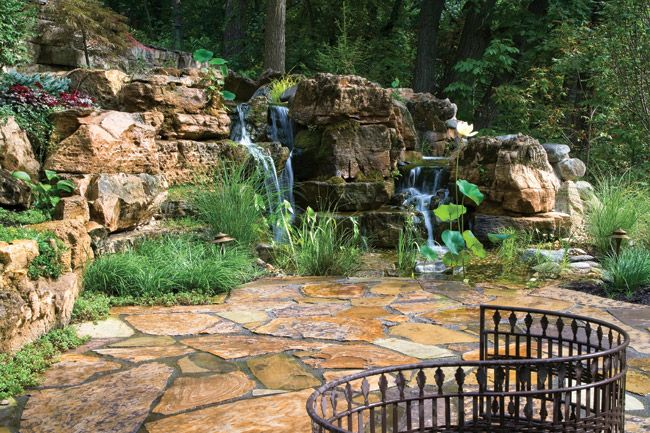 Creating Realistic Backyard Streams And Waterfalls Requires Attention To Fine Details Waterfalls Backyard Backyard Stream Backyard Pondless Waterfall
