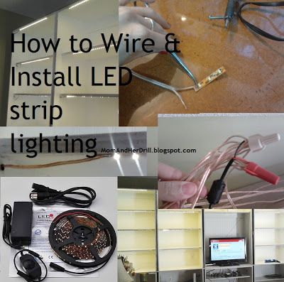 How To Install Led Light Strips Simple Mom And Her Drill How To Wire & Install Led Reel Lighting A 2018