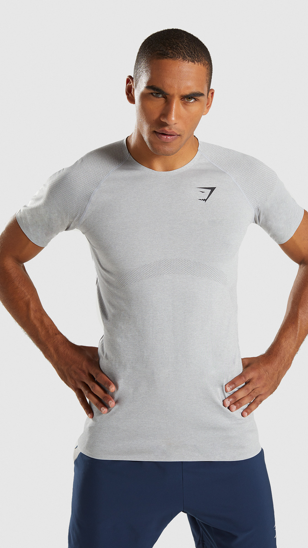 5a6b1b3e73fd2 Shadow Seamless Short Sleeve T-Shirt, Light Grey. The Shadow Seamless Short  Sleeve T-Shirt promotes a powerful silhouette and immaculate performance.