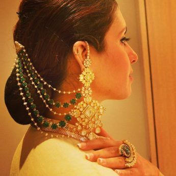 Trending Stunning Earrings With Hair Chains Wedmegood Best Indian Wedding Blog For Planning Ideas