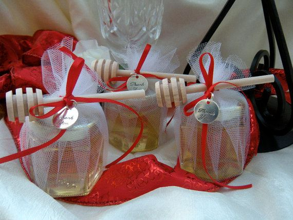 Wedding  Favors Honey Jars With Wood Dippers 48 by JCBees on Etsy, $384.00