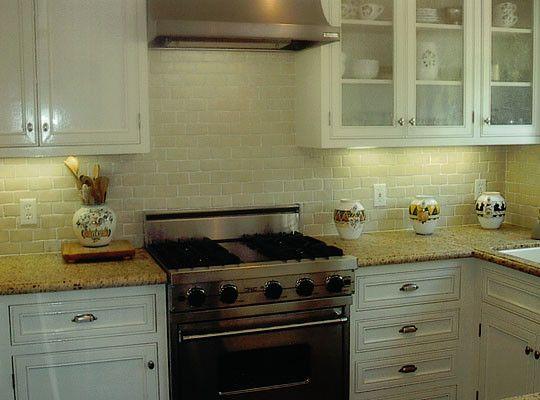 New Venetian Gold Design White Subway Tile Backsplash Kitchen In