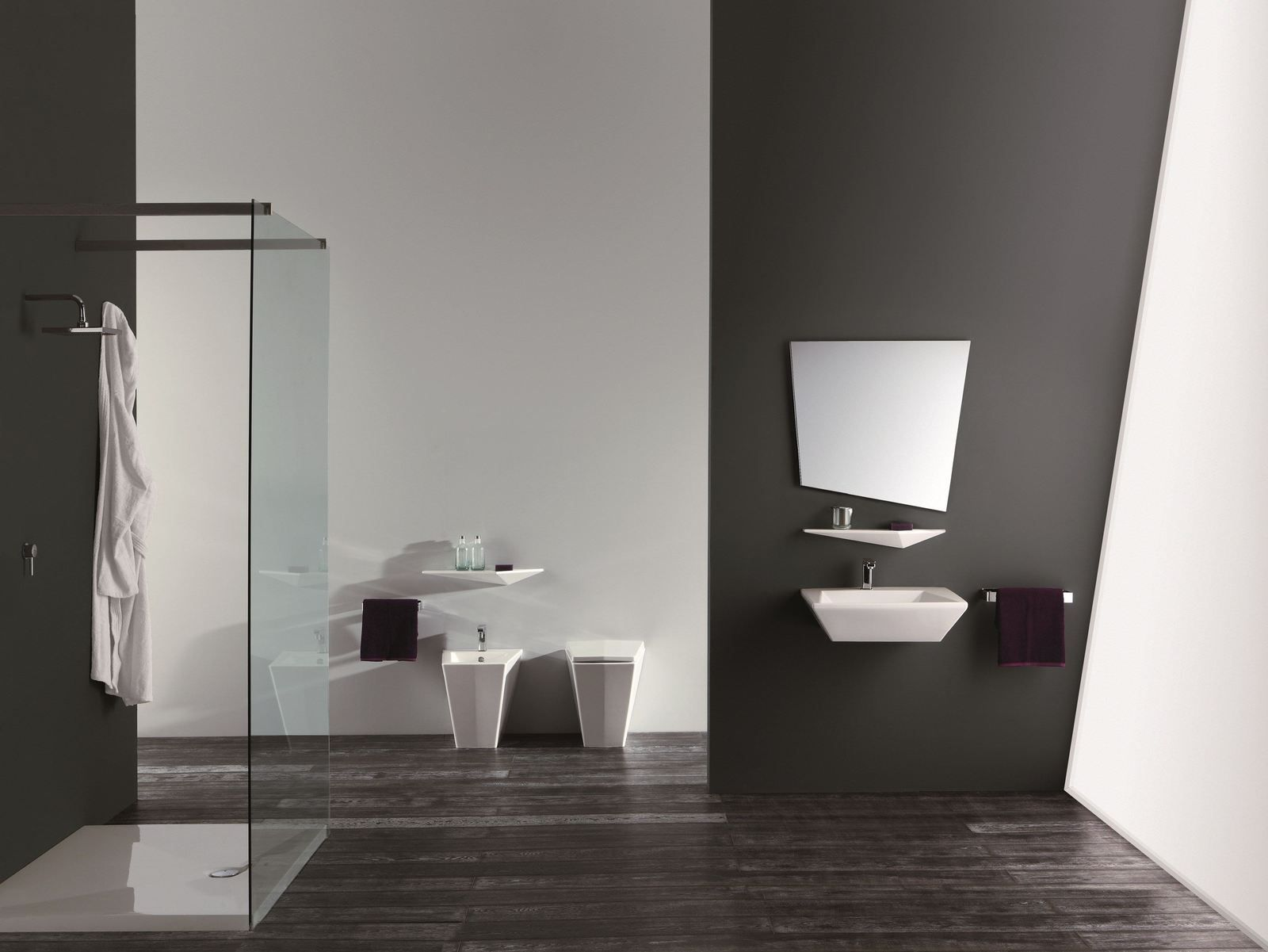 Captivating Ultra Modern Bathroom Suite Crystal Olympia 3