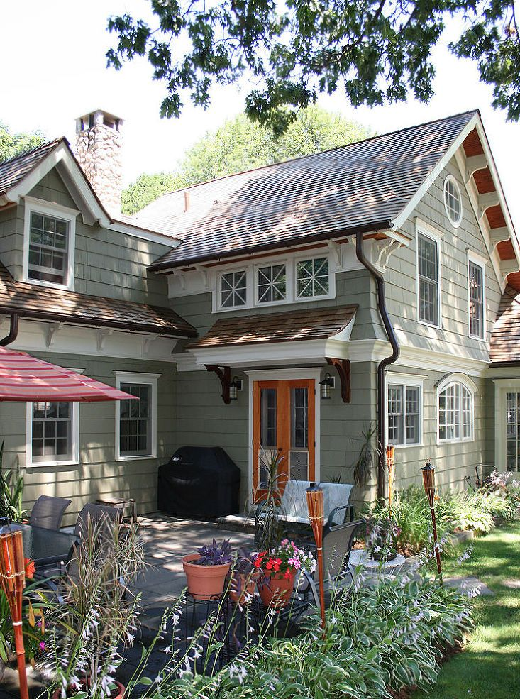Cape Cod Renovated Into Craftsman Style Home Cape Style Homes House Exterior Facade House