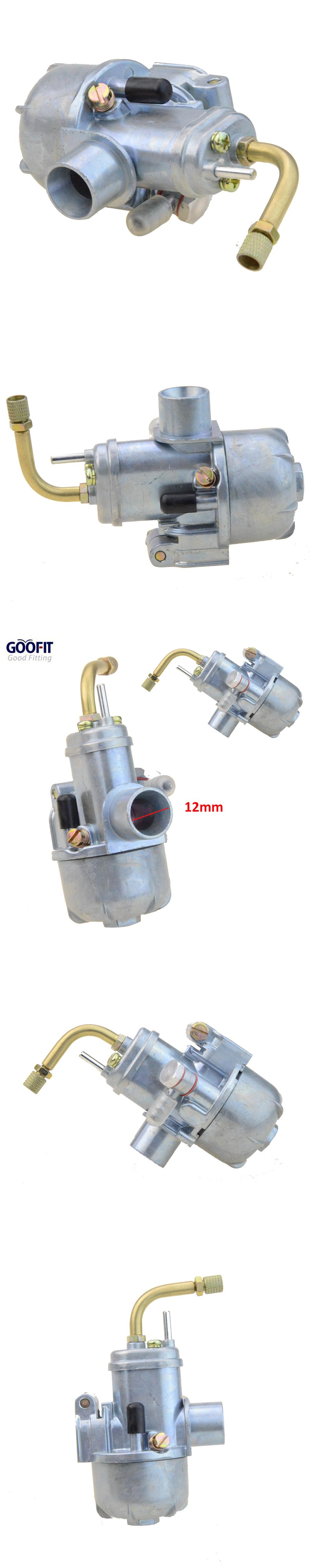 Goofit 12mm Carburetor Puch Moped Bing Style Carb Stock Maxi Sport Luxe Newport Cobra Carburettor N090 114 Puch Moped Motorcycle Accessories Puch