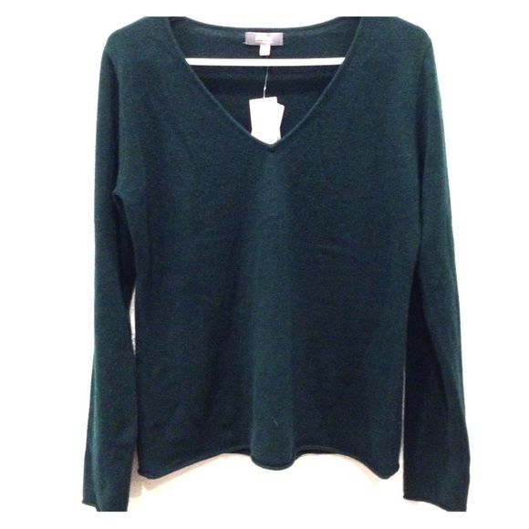 Nieman Marcus Dark Green Cashmere Sweater NWT Dark forest green ...