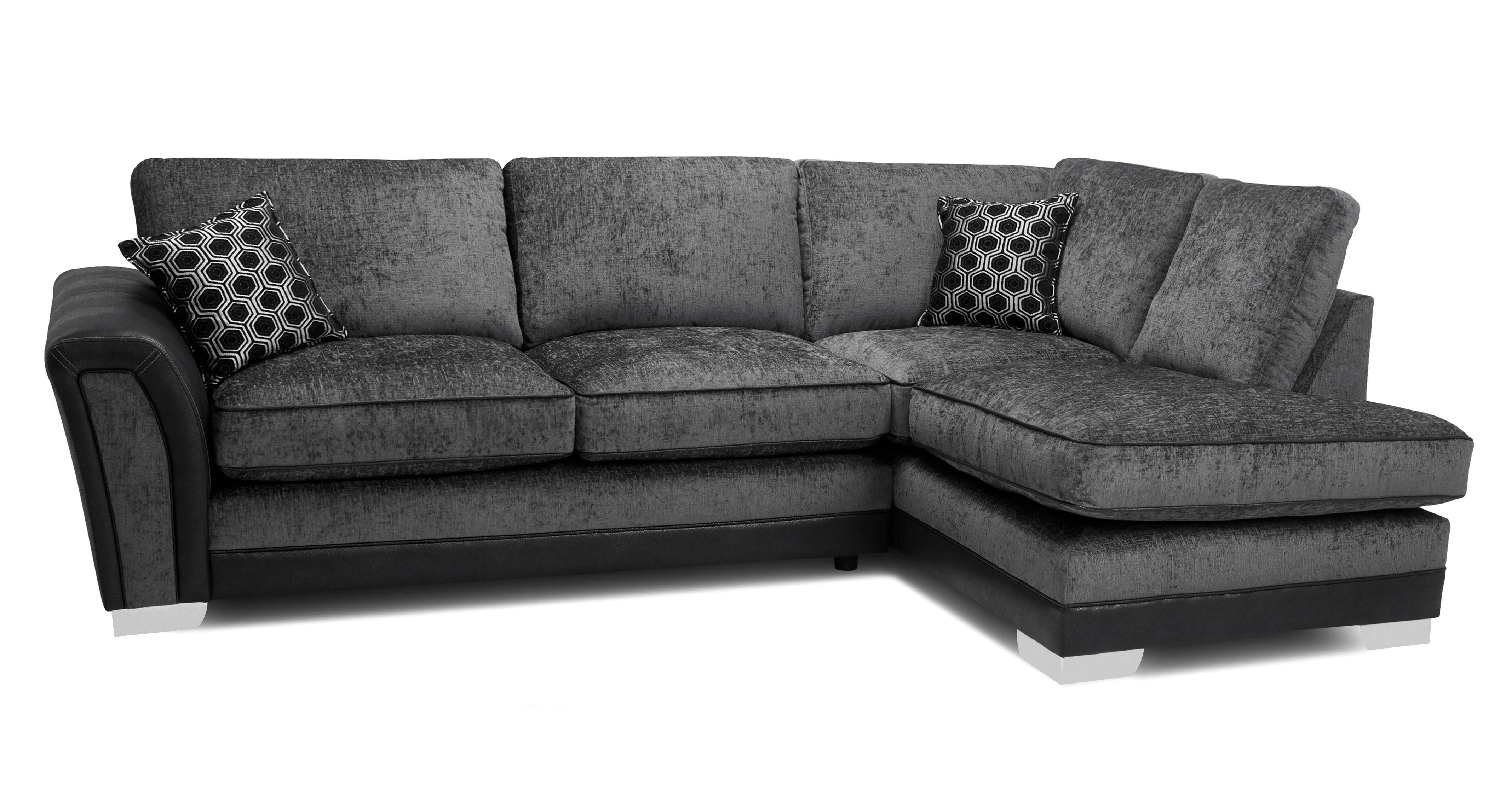 Alessio Formal Back Left Hand Facing 3 Seater Open End Corner Sofa Corner Sofa Deluxe Sofas Seater