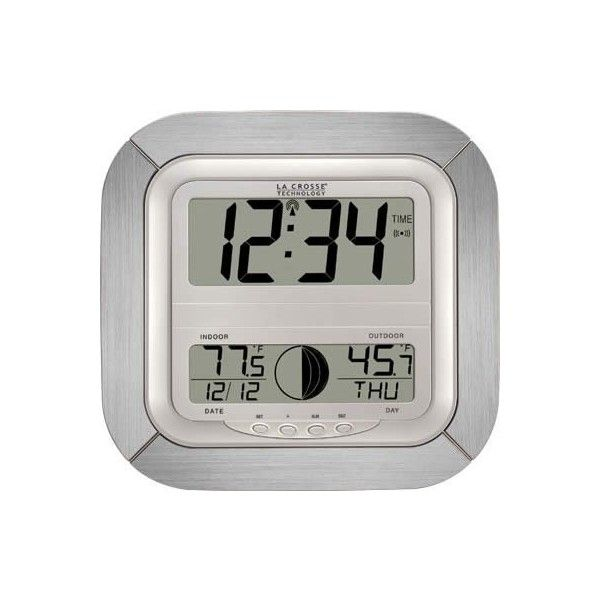 La Crosse Technology Atomic Digital Wall Clock With Moon Phase 37 Liked On
