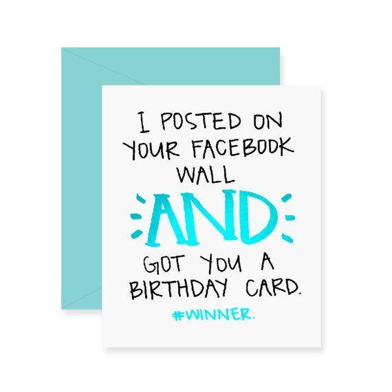 Foil Facebook Birthday Card