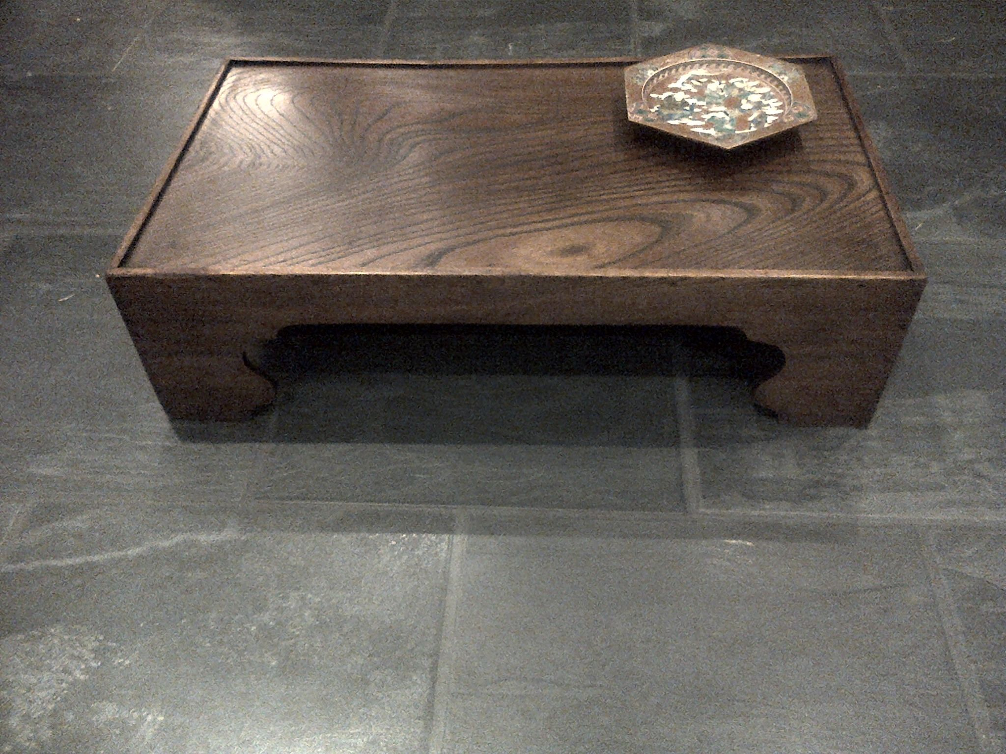 Antique Japanese tea table - called a Zataku and made from ...