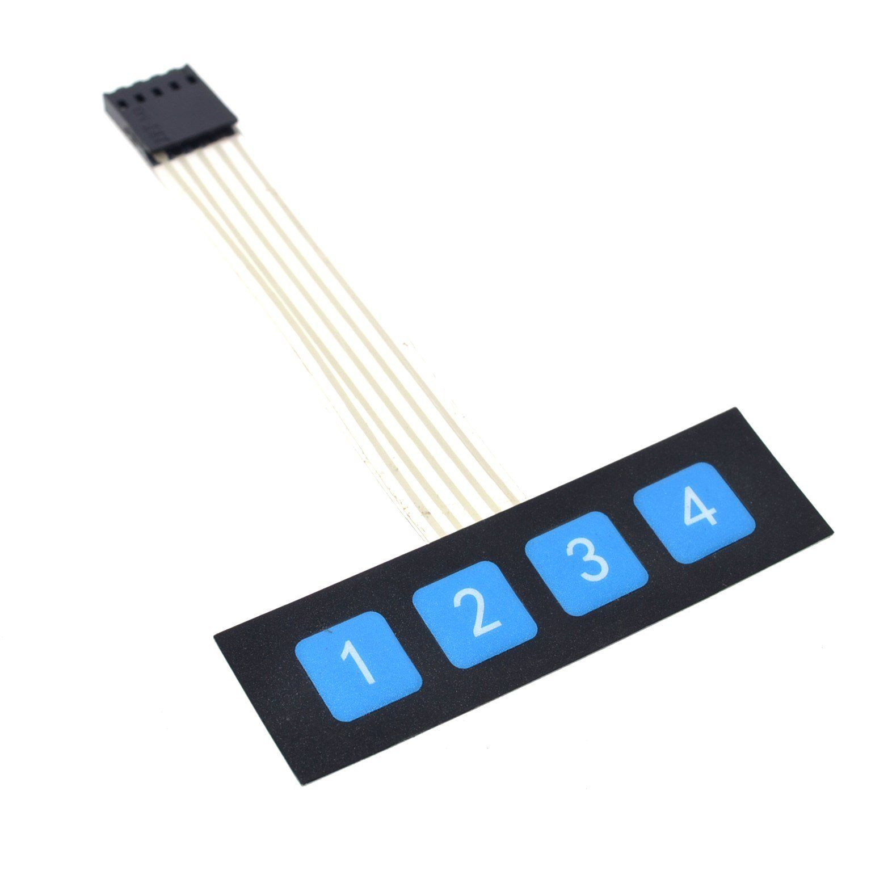 [ZSVE_7041]  10PCS 1x4 4 Key Matrix Membrane Switch Keypad Keyboard Control Panel SCM  Extended Keyboard Super Slim for… | Electronics workshop, Keyboard,  Electronica electronics | Membrane 1x4 Keypad Wiring Diagram |  | Pinterest