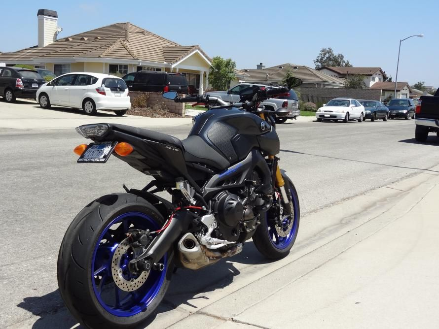 best bar end mirror mounting option for stock fz-09 handle bar