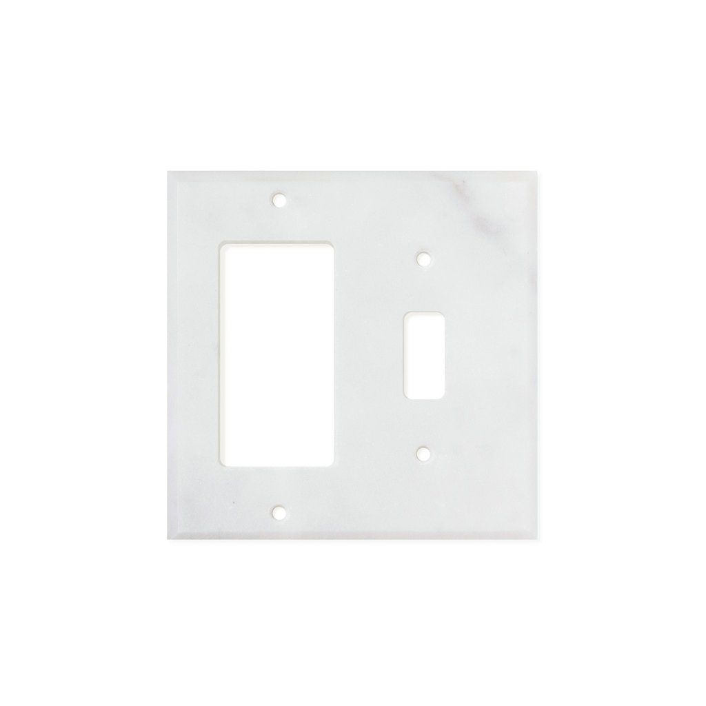Tilephile Switch Plate Covers Bianco Carrara Moldings And Trim