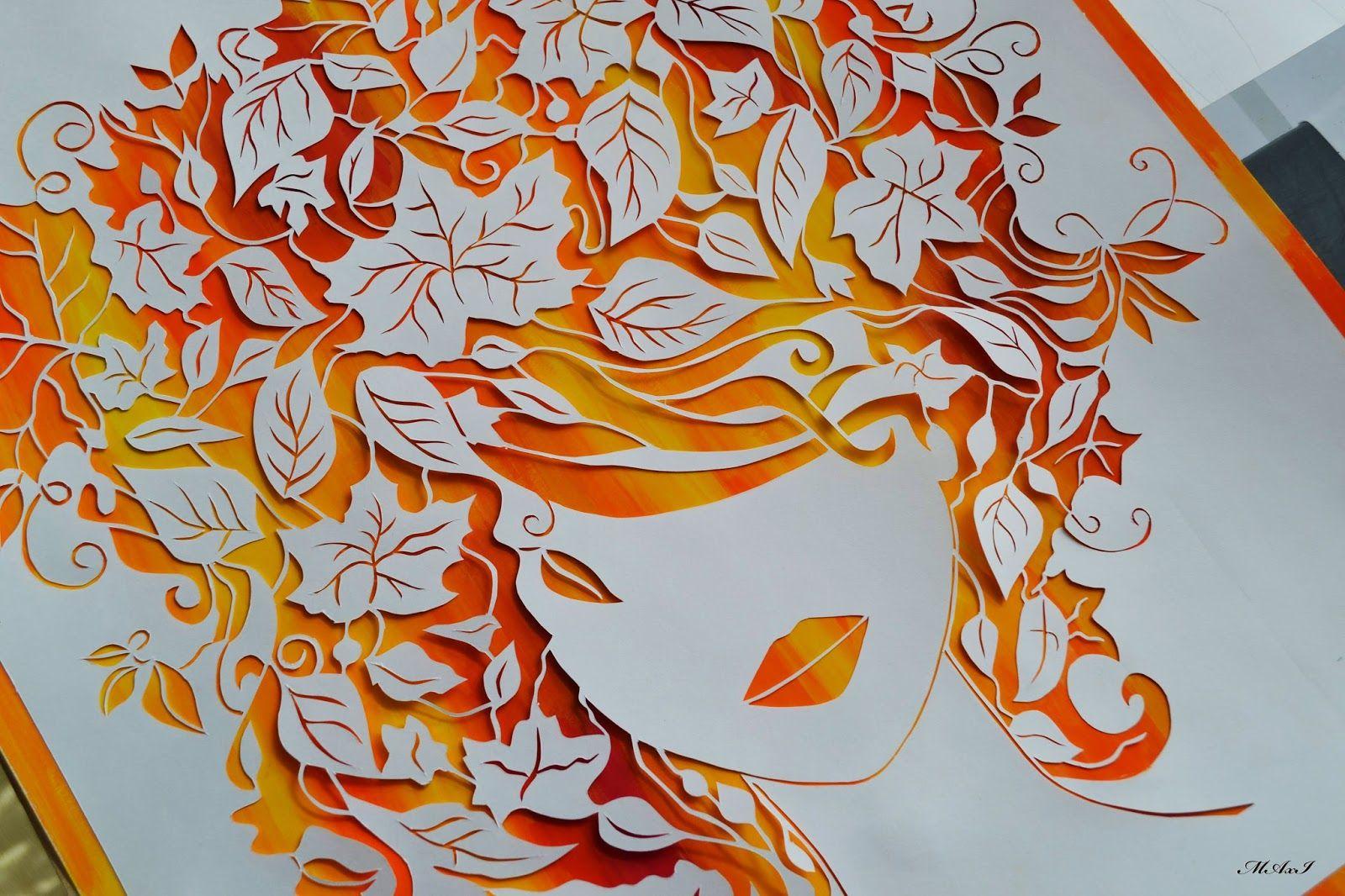 Орнамент из цветной бумаги своими руками