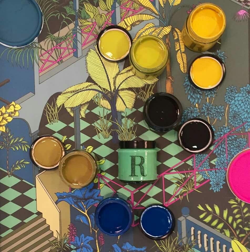 Bleu, jaune... Peintures Ressource
