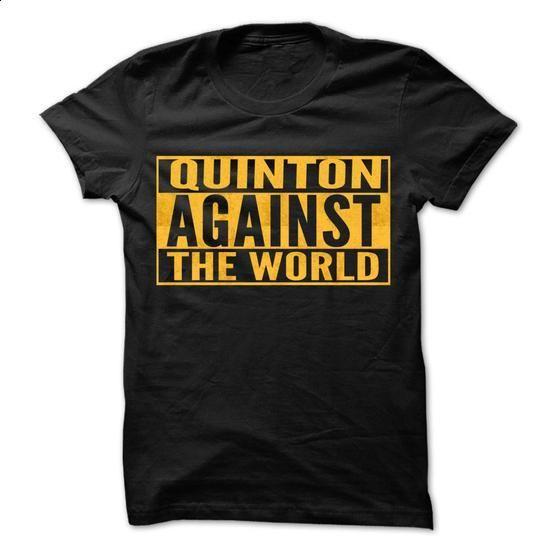 QUINTON Against The World - Cool Shirt ! - #tshirt #sudaderas hoodie. SIMILAR ITEMS => https://www.sunfrog.com/Hunting/QUINTON-Against-The-World--Cool-Shirt-.html?68278