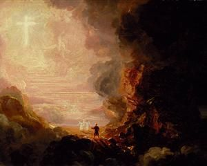 The Pilgrim of the Cross at the End of His Journey (part of the series The Cross and the World) - Thomas Cole, 1846