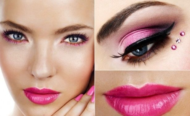Selena Gomez With A Light Purple Eye Makeup And Bright Baby Pink Lip Makeup To Party Makeup