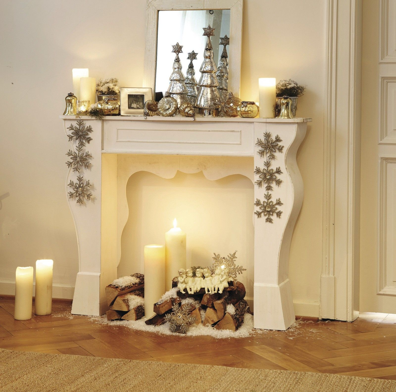Wohnzimmer Im Landhausstil An Weihnachten Love Decorate All Year Design Kaminkonsole