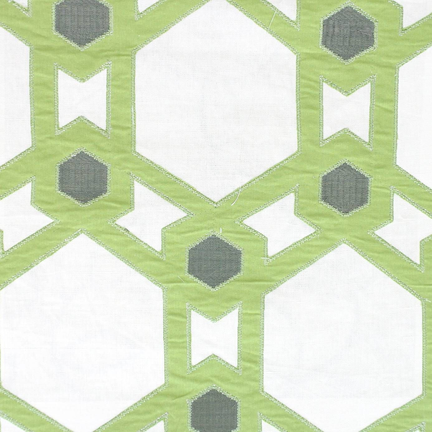 Villa Nova Claremont Fabric Lime Product Code 3132/03