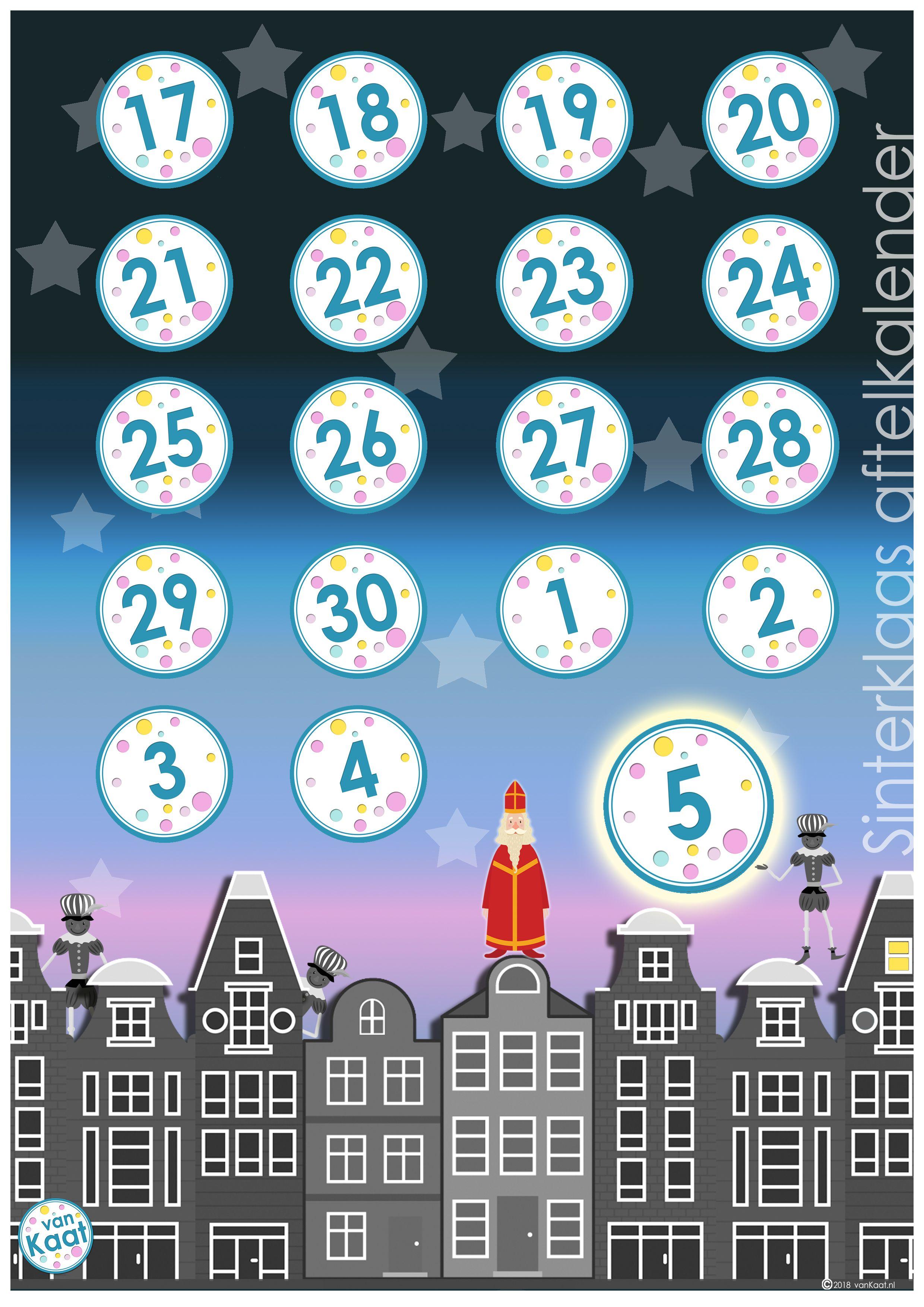 Aftelkalender Sinterklaas 2018 Sinterklaas Knutselen Sinterklaas Aftelkalender