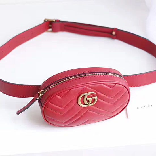 0e3196bb9d30 Gucci GG Marmont Matelasse Leather Belt Bag 476434 | Gucci Bags in ...