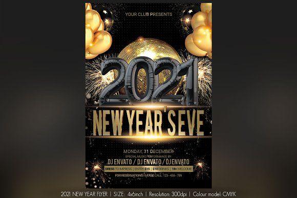 2021 New Year Flyer in 2020 | Flyer, Christmas flyer, Newyear