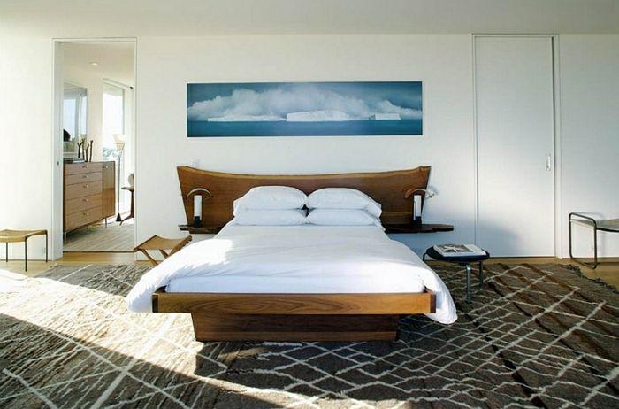 Schlafzimmer Design rot petrol kopfende teppich Schlafzimmer - bilder für schlafzimmer