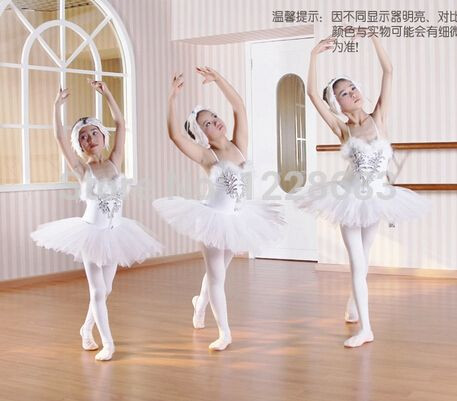 pas cher new sequin pancake tutu white swan lake ballet costume filles robe de ballerine enfants. Black Bedroom Furniture Sets. Home Design Ideas