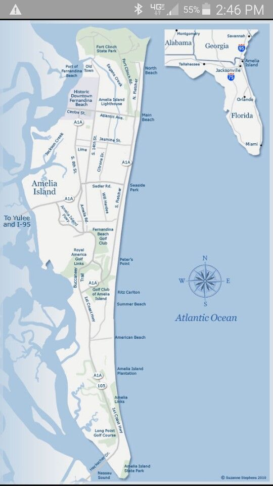 Amelia Island, FL map | Local Stuff   Florida | Pinterest | Amelia