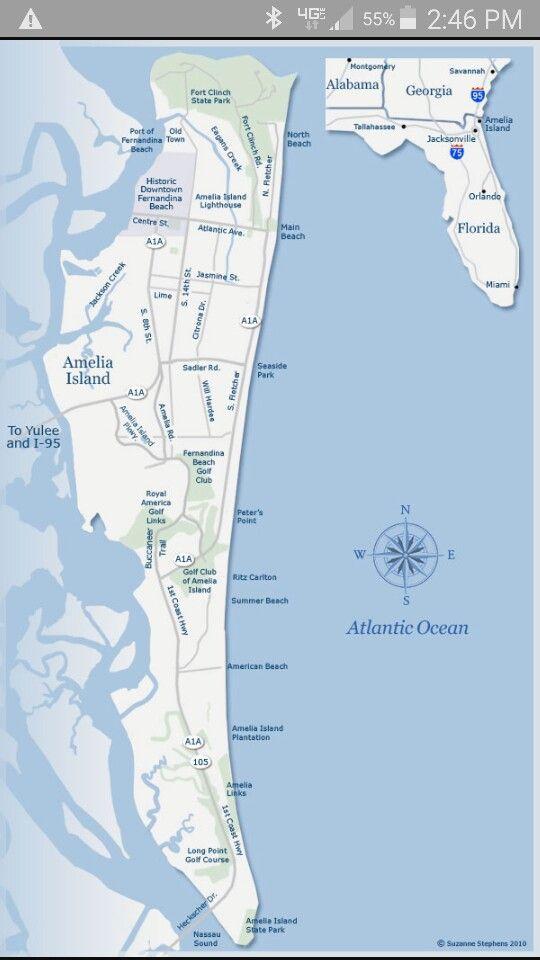 Amelia Island, FL map | Local Stuff - Florida | Amelia island ...