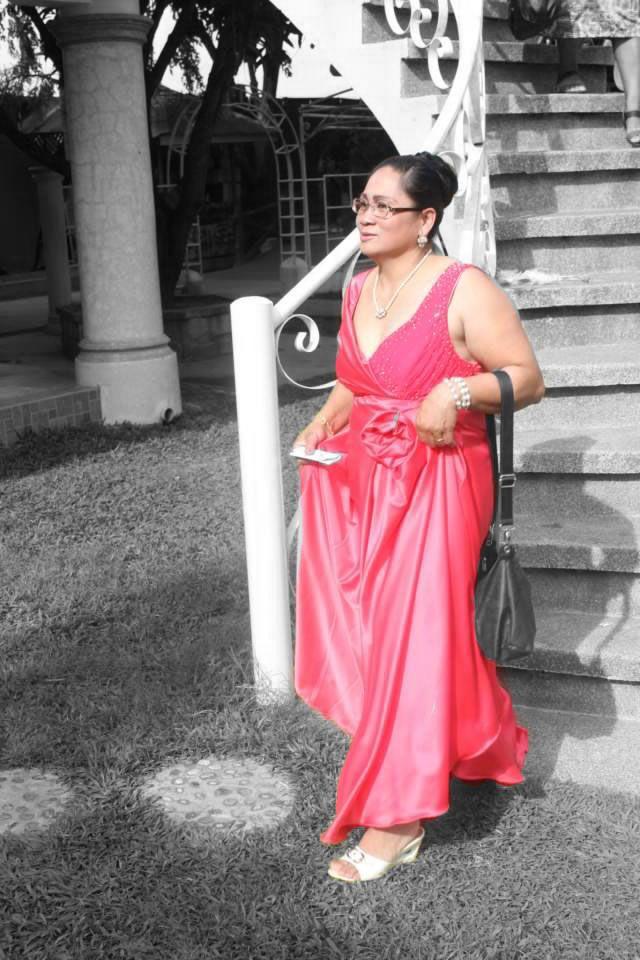 Pomelo pink off shoulder v-neckline long dress  cfb339c19