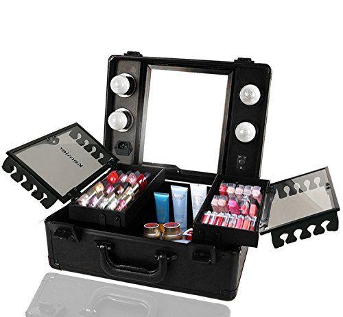 Best Makeup Kit Kemier Makeup Train Case Cosmetic Organizer Box