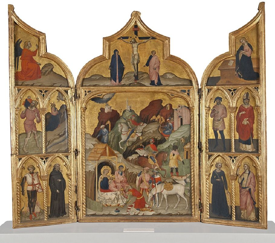 Triptych of the three Magi  by Jacobello del Fiore. Courtesy of the National Museum of Art, Sweden.