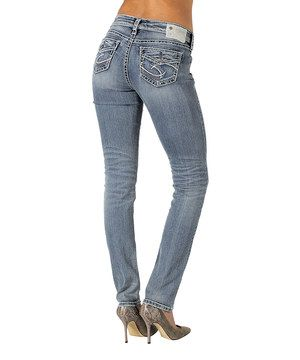 This Medium Blue Pencil Skinny Jeans - Women by Silver Jeans Co. is perfect! #zulilyfinds