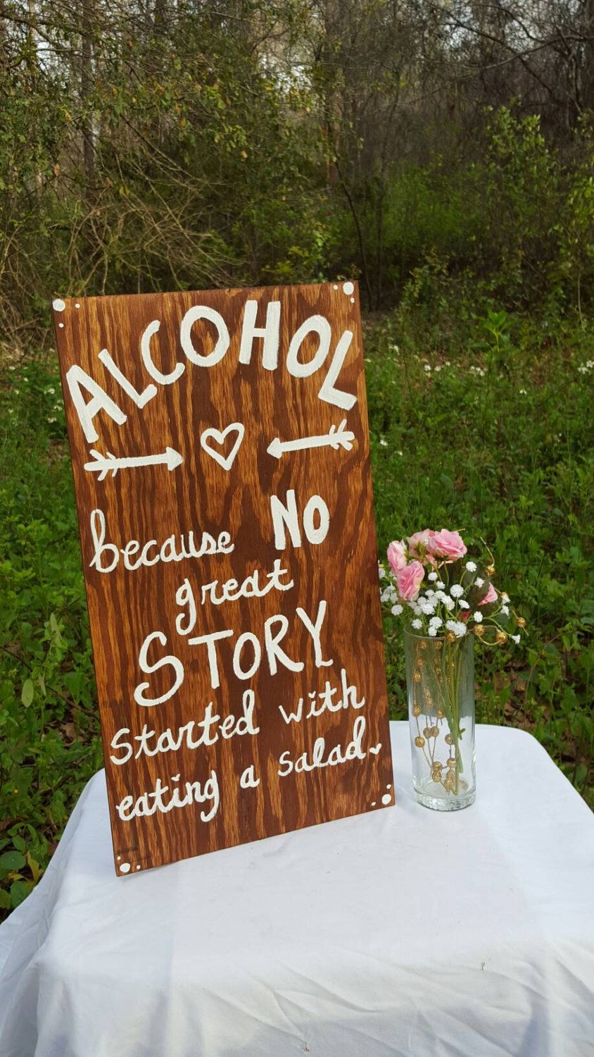 Wooden wedding decor ideas  No Great Story  thepecularpelicansy  Design  Pinterest