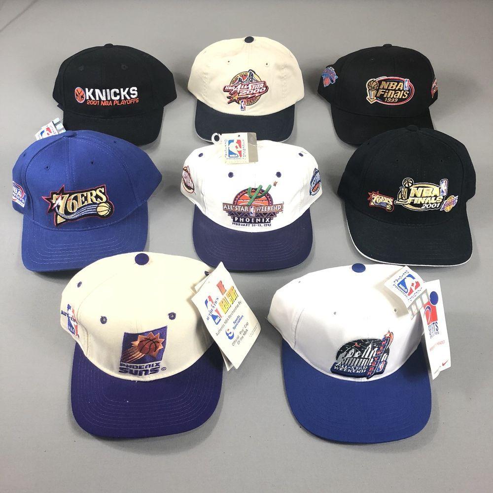 3f1b7585fd03a Lot Of 8 Vintage New NBA All Star Weekend Finals Strap SnapBack Hats 1995 -  2001 (eBay Link)