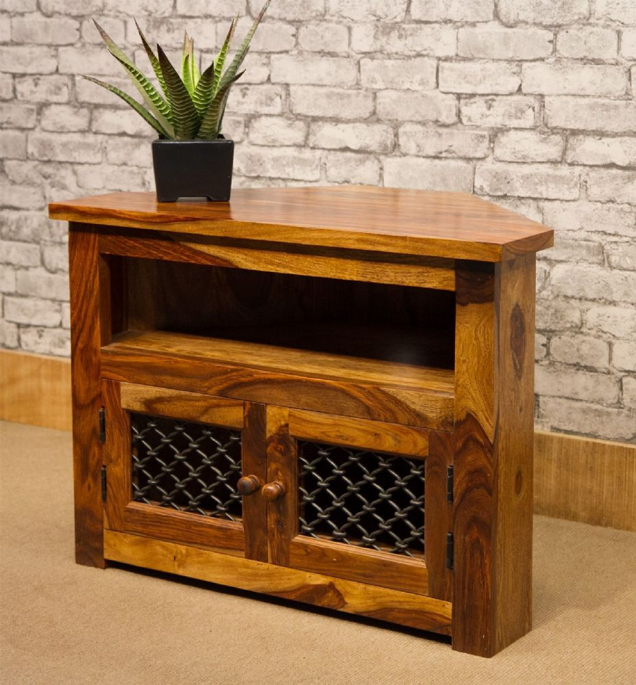Lovely Jali Style Tv Cabinet With Mesh Doors That Allow The Remote Control To Work 249 Jali Doors Tv Cabinets Wooden Boxes
