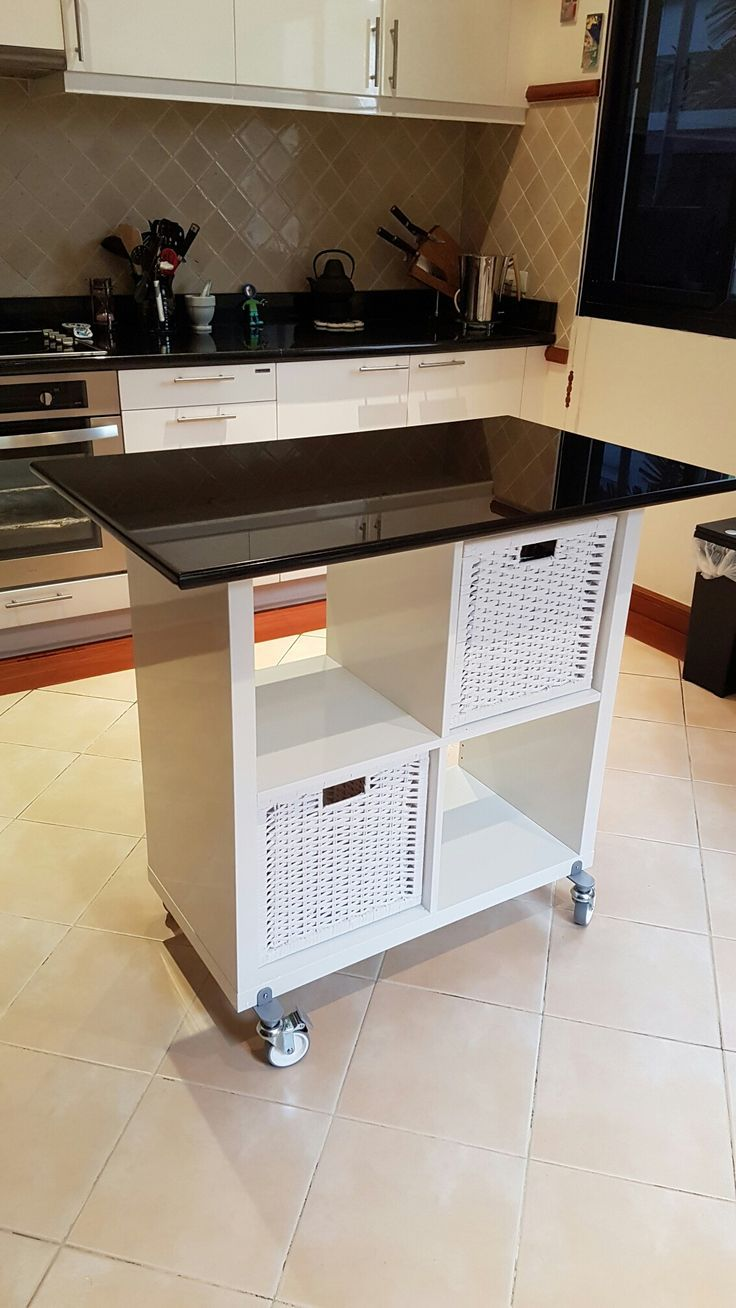 Ikea Kallax Hack for Kitchen Island | IKEA Hacks | Pinterest | Küche ...