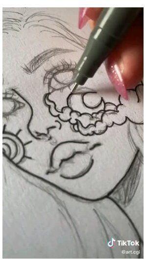 aesthetic art drawing