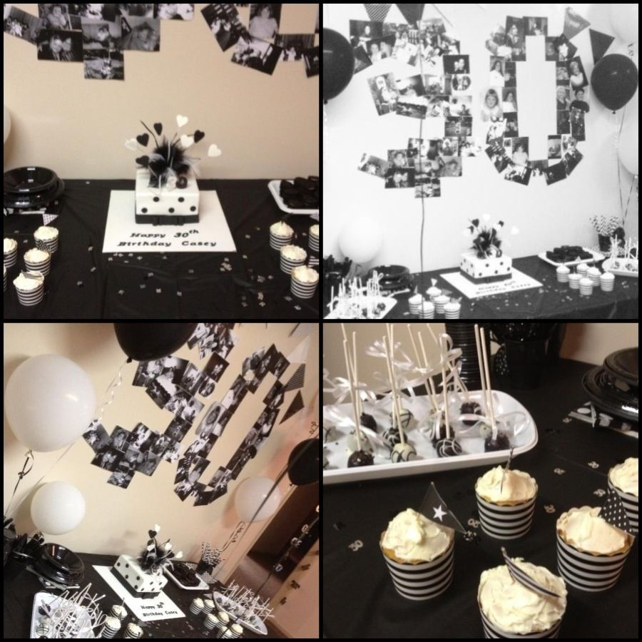 Black White Th Birthday Parties Fun Pinterest - Black and white 30th birthday party invitations