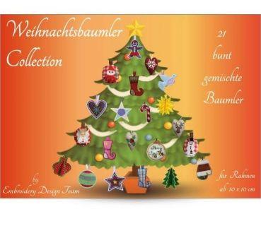 Stickdatein 10x10 Weihnachtsbaumler Collection