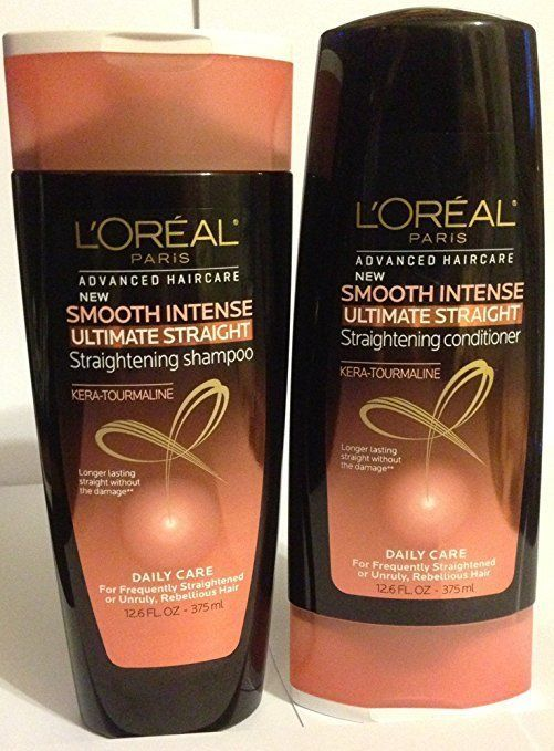 L Oreal Paris Smooth Intense Ultimate Straightening Shampoo Conditioner Loral Straightening Shampoo Shampoo Ouai Smooth Shampoo