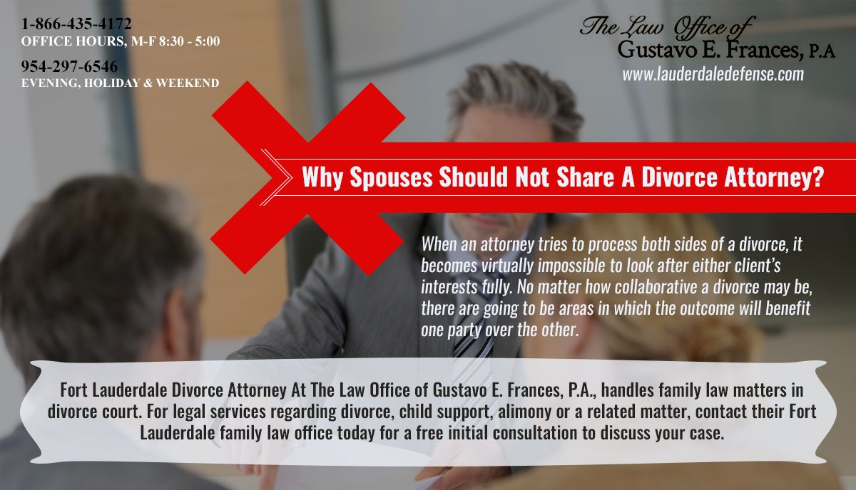 Fort Lauderdale DivorceAttorney At The Law Office of